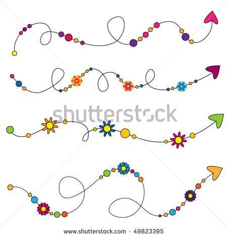 Colorful vector arrows with flowers and dots – K… Colorful vector arrows with flowers and dots – Kaufen Sie diese Vektorgrafik bei Shutterstock und finden Sie weitere Bilder. Doodle Lettering, Creative Lettering, Doodle Arrows, Doodle Drawings, Doodle Art, Zen Doodle, Simple Borders, Doodle Borders, Flower Doodles