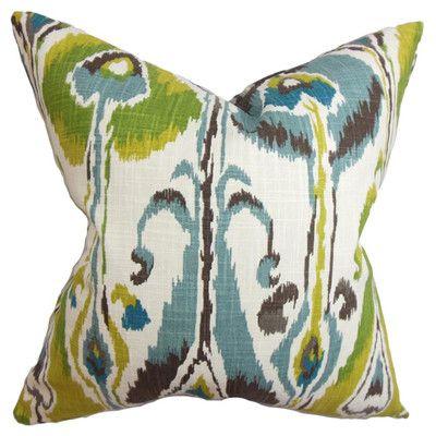 Light Blue The Pillow Collection Djuna Ikat Pillow
