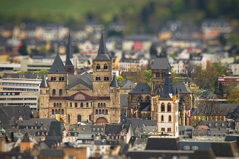 30 Images Of Real Cities That Look Like Miniatures. I know it is kind of gimmicky - but I really like the tilt-shift perspective.