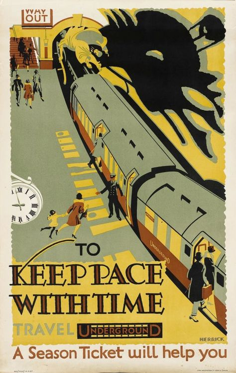To Keep Pace With Time . Travel Underground . A Season Ticket Will Help You [Frederick C. Herrick, 1927]