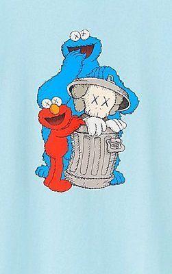 Uniqlo Kaws Sesame St Mens T Elmo Cookie Monster Bert Amp Ernie