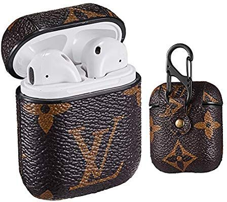 AirPods Case Compatible with AirPods 1//2 Leather AirPod Cover Accessory for AirPod,Wireless Charging Box 3D Luxury Chic Cool Designer Skin Shockproof Keychain AirPod Case.