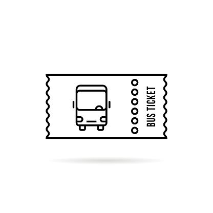 Black Linear Bus Ticket Simple Stock Vector Art More Images Of Accessibility Istock Bus Tickets Free Vector Art Ticket