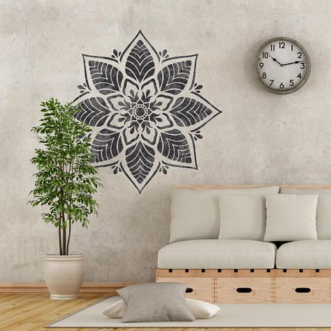 MANALI Furniture Wall Floor Stencil for Paint 25cm