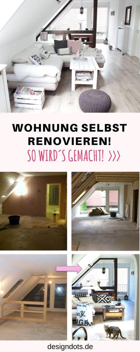 Wohnung Dachgeschoss Selbst Renovieren, Dachgeschoss Ausbauen, Dachgeschoss  Ausbau, Vorher Nachher Bilder, Renovieren Vorher Nachher, Wohnzimmer  Renovieren, ...
