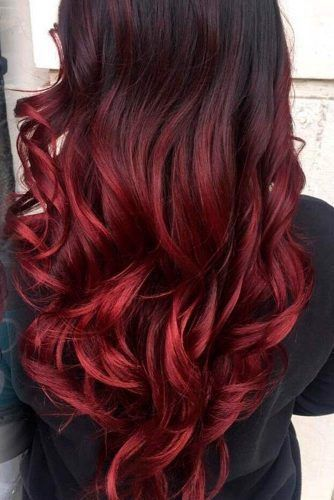 Brunette With Red Glazed Tips Newhairstyles Hair Dye Tips Brown Ombre Hair Red Hair Tips