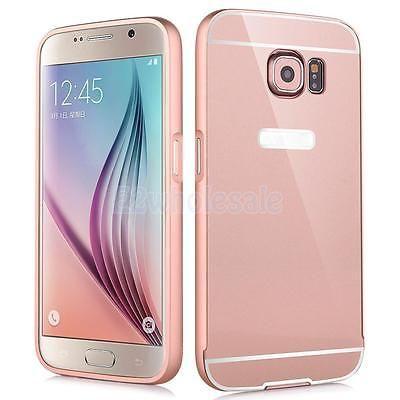 Aluminum Metal Case Mirror Back Cover For Samsung Galaxy S6 Edge Rose Gold Galaxy S6 Edge Samsung Galaxy S6 Edge Samsung Galaxy S6