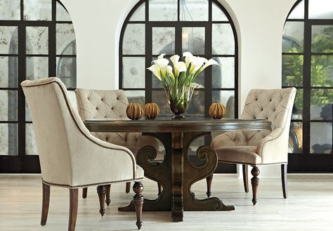 Shop for Villa Medici 62 Round Dining Table, and other Dining Room Dining Tables at Star Furniture TX.
