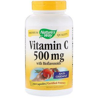 Nature S Way Vitamin C Bioflavonoids 1 000 Mg 250 Capsules Vitamins Gluten Free Health Vitamin C