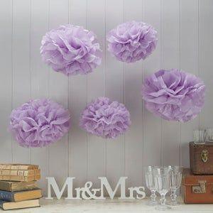 Set Of 5 Medium Tissue Paper Pom Poms For Weddings Birthdays Etsy In 2021 Tissue Paper Pom Poms Paper Pom Pom Pom Pom Flowers