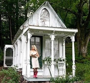 """Outside of the beautiful Victorian garden """"shed"""""""