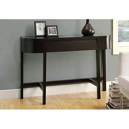 Cappuccino 1 Drawer Console Table With Images Console Table