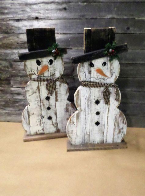 Primitive Valentine Snowmen Doll Ornie Bird Paper Pattern 272