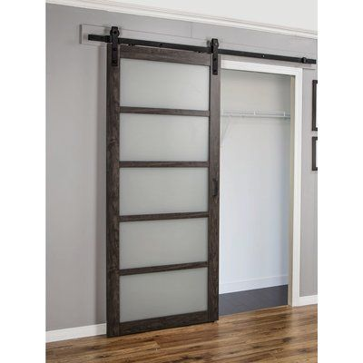 Continental Glass Barn Door With Installation Hardware Kit Glass Barn Doors Interior Barn Doors Barn Doors Sliding