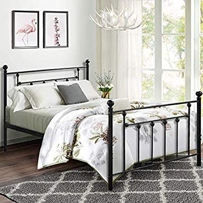 Amazon Com Premium Full Size Bed Frame Vecelo Metal Platform