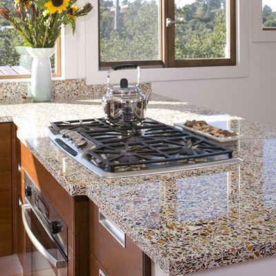 recycled glass countertops i want For the kitchen Pinterest