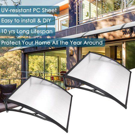 Yescom 39x39 Window Awning Door Canopy Patio Cover Protection 2 Set Walmart Com Patio Canopy Sun Shade Canopy Patio Awning