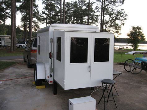 cargo campers | Swing out the back door and pull out the