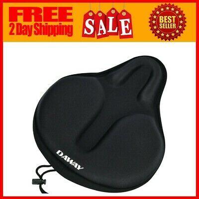 Large Wide Saddle Pad Exercise Bike Seat Gel Cushion Cover Bicycle Mountain Bike