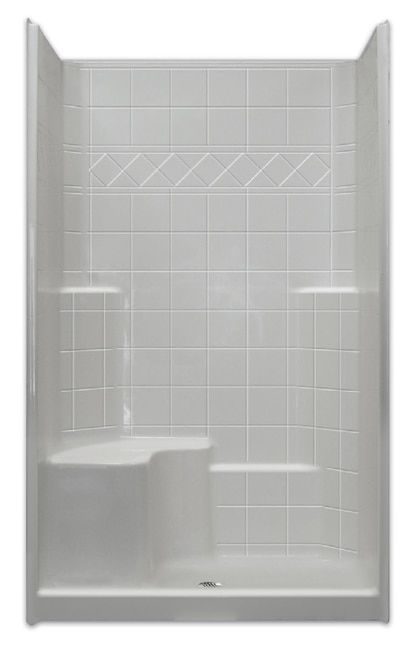 36 X 48 Shower Stall Built In Left Seat Multi Piece With