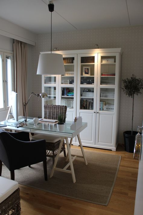 Home office, ikea liatorp, new england style, olive tree, sisal, rattan, interior, decoration