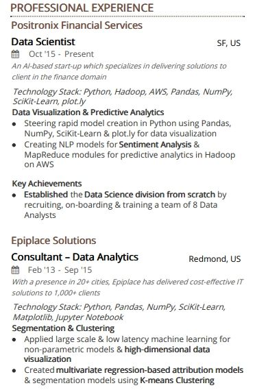 Data Scientist Resume 2020 Guide To Data Science Resume Resume Examples Data Scientist Data Science