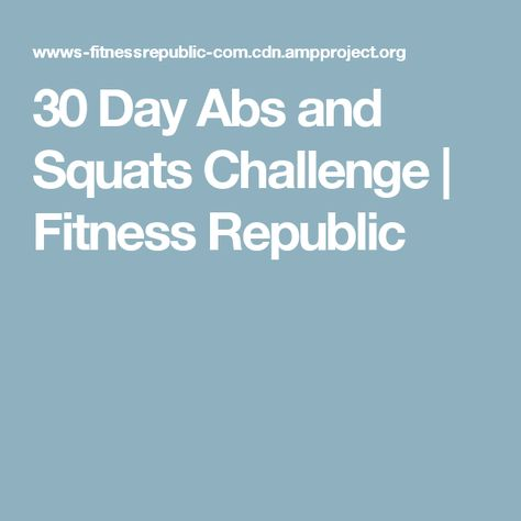 30 Day Ab And Squat Challenge - Musely