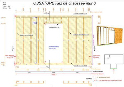 Plan Ossature Bois Jpg 1200 839 Plan Maison Ossature Bois Maison Ossature Bois Plan Maison