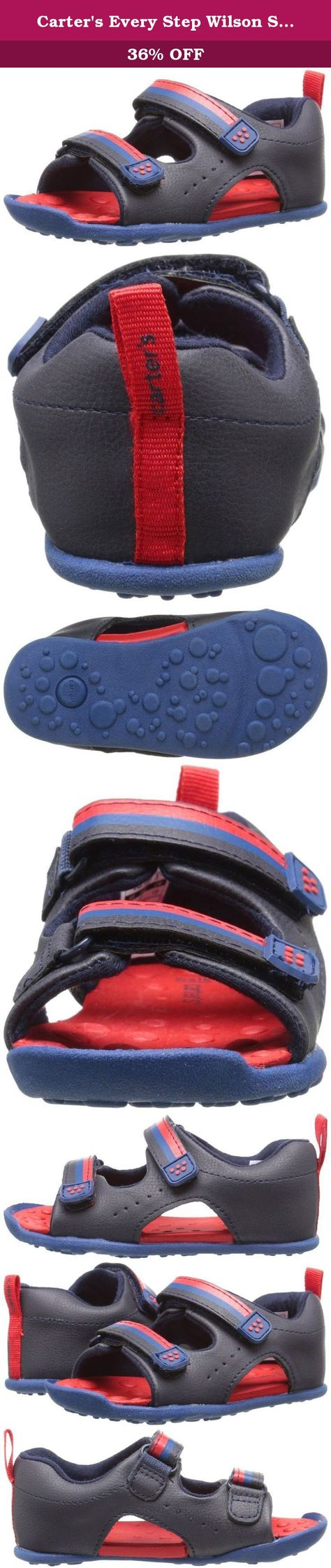 Non-Slip Summer Shoes Kids Boys Open Toe Three Strap Walking Sandals Durable Color : Navy , Size : 4.5 M US Big Kid