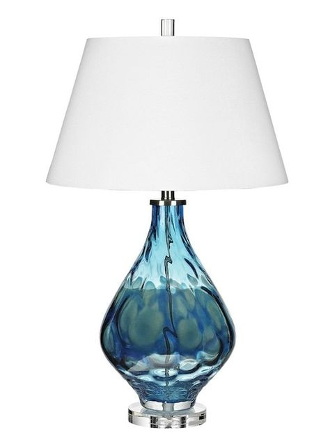Presenting the sea inspired 29 inch tall Gush Blue Glass