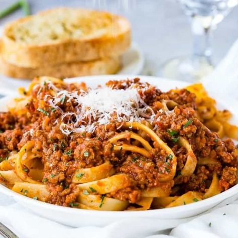 We should have posted The Secret to Authentic Italian Bolognese Sauce Recipe last year after we returned from Italy, but better late than never! #PASTA #bolognese #Italian #Italianrecipe #Italianfood #pastarecipe #spaghettisauce #ragusauce #familyfriendly #easyrecipe #familyrecipe #easydinnerrecipe #dinnerrecipe