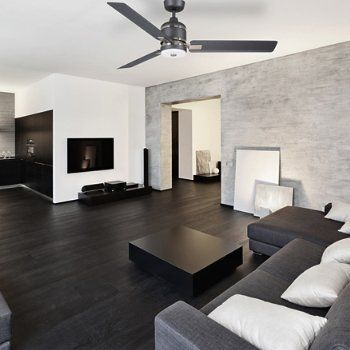 Shown In Graphite With Brushed Steel Accents Black Living Room White Walls Living Room Living Room White
