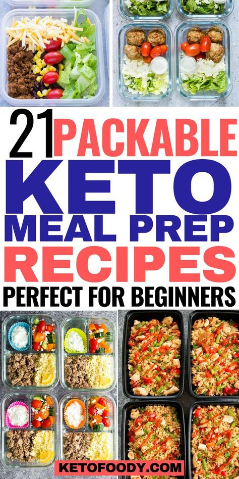 21 Packable Keto Meal Prep Recipe For Beginners. These keto meal prep bowls are THE BEST! #keto #ketomealprep #ketorecipes #ketomealpreprecipes