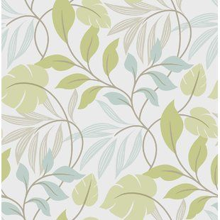 Peel And Stick Removable Wallpaper You Ll Love Wayfair Ca Peel And Stick Wallpaper Brewster Wallpaper Green Wallpaper