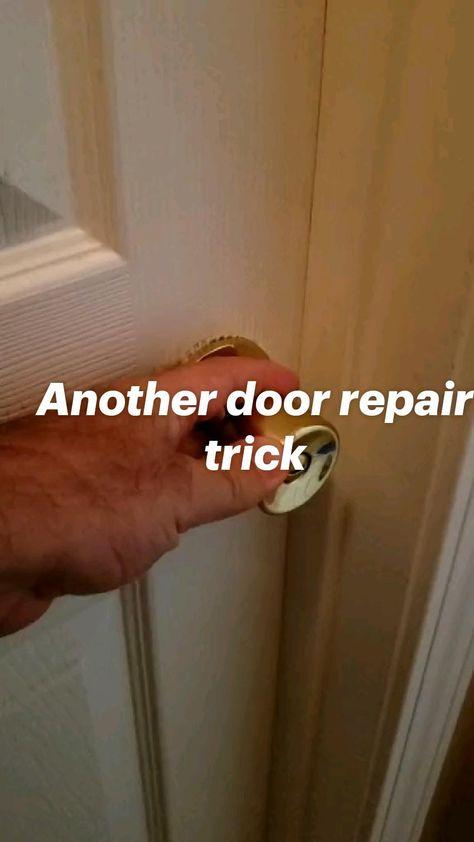 Another door repair trick