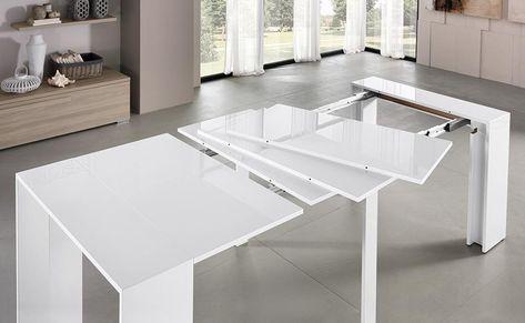 Tavolo Consolle Con Sedie Pieghevoli.Tavoli Allungabili Salvaspazio Tavoli In Legno Allungabili Moderni