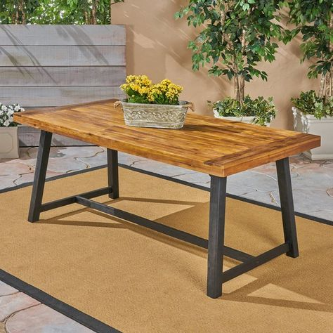 Liberatore Wooden Dining Table Wicker Dining Tables Concrete