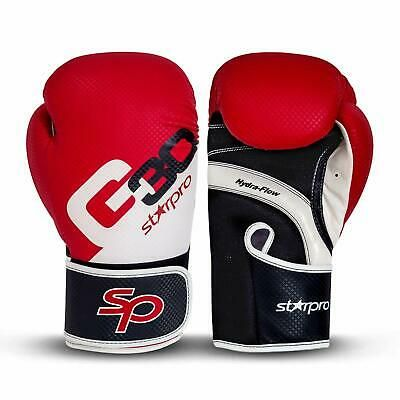 Premium Sparring  Real Leather Boxing Gloves Muay Thai MMA  Kickboxing Training