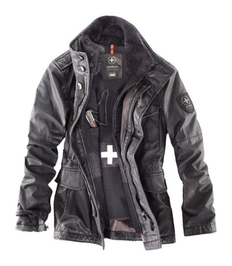 DashX Mens Long Sleeve Full Zipper Leather Baseball Jacket Black
