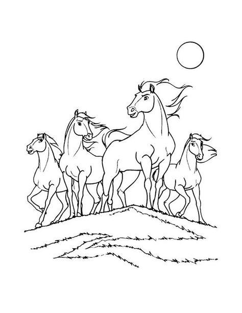 Dibujo Para Colorear Spirit El Caballo Mustang Caballos