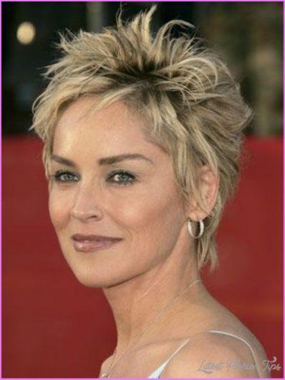 Sharon Stone Short Hairstyles Drawingshorthairstylesforwomen Hair Styles Short Spiky Hairstyles Short Hair Styles