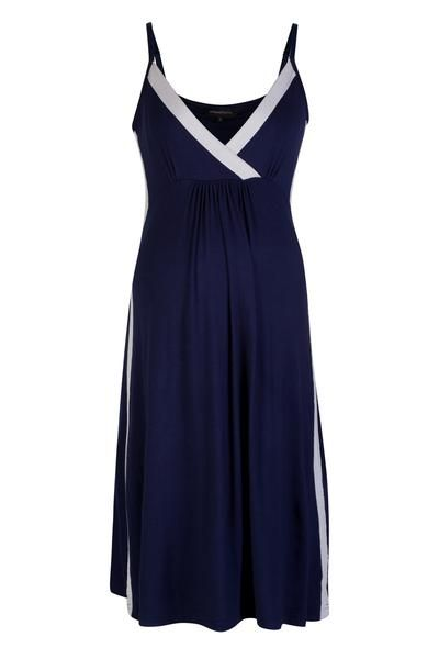 83f55532a47 Vogue Nightdress - Navy Soft Grey