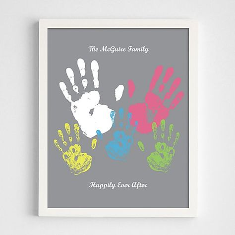 Family Handprint Framed Print