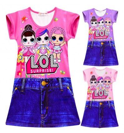 Vestido Lol Surprise Para Niña Ropa Para Muñecas Barbie