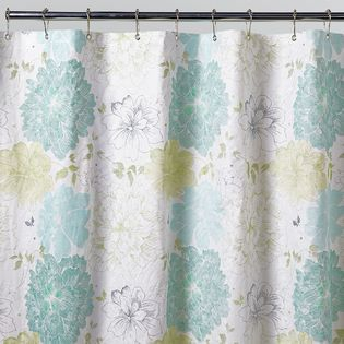 H20 Whimsical Shower Curtain Yellow Shower Curtains Turquoise