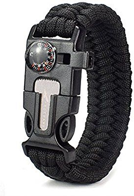 Amazon Com Freehawk All In One Outdoor Survival Paracord Bracelet