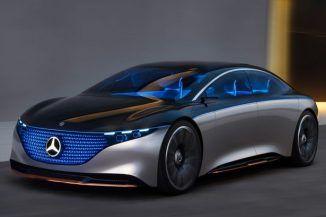 Futuristic Mercedes Benz Vision Eqs Concept Car Features One Bow Exterior Design For Dramatic Appearance Mercedes Benz Sedan Mercedes Benz Luxury Sedan