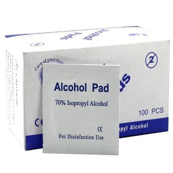 100pcs Set Portable Alcohol Swabs Pads Wipes Antiseptic Cleanser
