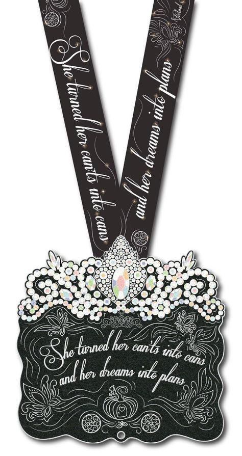 Dreams Into Plans Virtual Run Medal, $29.00, FREE US SHIPPING!! Large 6 inch GLITTER PRINCESS Medal! She turned her can'ts into cans and her dreams into plans :) Inspired by a real princess and to celebrate all princesses! Includes a dye sublimation lanyard and donation to charity. http://virtualrunworld.com/dreams-into-plans-virtual-run-medal/  Virtual Run World medals are easy to earn, with no close dates or posting of results, just purchase and receive in mail!