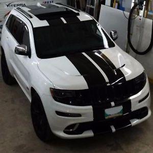 2012 2018 Jeep Grand Cherokee 10 Plain Rally Stripe Stripes